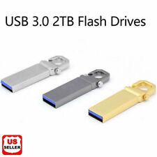 2TB Metal USB 3.0 Flash Drive Memory Stick Pen U Disk Swivel Key Thumb For PC US