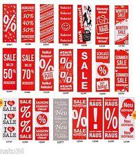 Plakate  48 x 138 / Ankleber Preisschild Deko Werbung Aufkleber Räumungsverkauf