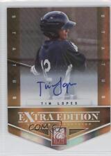 2012 Elite Extra Edition Status Orange Die-Cut Signatures #143 Tim Lopes Auto