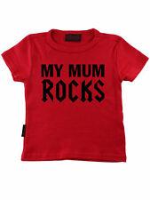 Darkside My Mum Rocks Baby Kleinkind Kinder Children T-Shirt Rot 5005