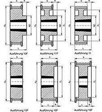 Zahnriemenrad HTD-8M-Taper f. Riemenbreite 30 mm - Wähle Zähnezahl & Ausführung