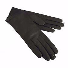 LA BOTTEGA DEL GUANTO guanti donna grigio 100% pelle e cashmere MADE IN ITALY