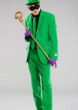 Adulto para Hombre Traje de disfraz El Acertijo Estilo Verde Incluye Chaqueta, Pantalones & Tie