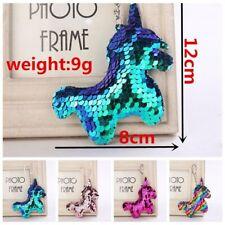 Women Sequin Unicorn Horn Key Chain Handbag Car Keyring Fashion Jewelry Sale