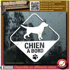 Sticker Autocollant chien à bord decal animaux deco voiture auto vitre