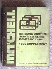 MITCHELL EMISSION CONTROL SERVICE & REPAIR DOMESTIC CAR