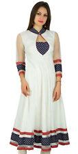 des de Anarkali net chic kurta Kurti longue robe de soirée formelle maxi indien
