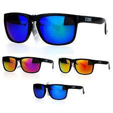 Kush Color Mirror Lens Rectangular Keyhole Sport Sunglasses