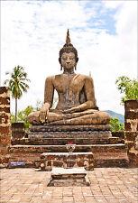 Stickers muraux autocollant déco : Bouddha - réf 1302 (16 dimensions)