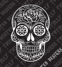 Sugar skull car truck vinyl decal sticker day of the dead mexico rockabilly