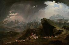 "John Martin : ""Joshua Commanding the Sun to Stand Still"" (1817) — Fine Art Print"