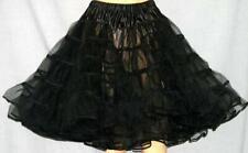 "BLACK Square Dance Crinoline Poodle Skirt Sz L/2X W35"""