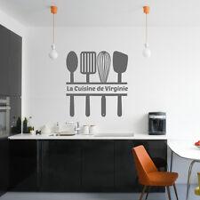 """Sticker Texte """"Ustensiles de cuisine et texte La cuisine de ..."""""""