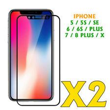 IPHONE 5/5S/SE/ 6/6S PLUS X / 7 / 8 PELLICOLA VETRO TEMPERATO 3D  [2 PEZZI]