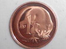 "1985 AUSTRALIAN 1c PROOF COIN X MINT SET ""AUSTRALIAN ONE CENT 1c 2x2 HOLDER"