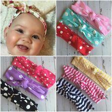 Miss LAUREN - Newborn Baby Girls Stretch Bow Top Knot Headband