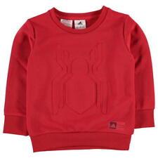 Adidas Boys Spider-man Crew Sweater Kids Youth Sweatshirt Top CF1453 Red