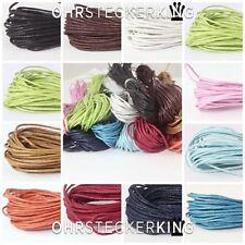 Baumwollbänder geflochten, gewachst Ø 1 mm verschiedene Farben Länge 1 m bis 3 m