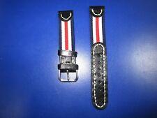 20mm  Correa Reloj cuero-nylon Pulsera Leather Watch Band Strap