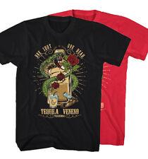 ★Herren T-Shirt Tequila One Dead Shot Veneno Kobra Tattoo Neu S-5XL TV29315★