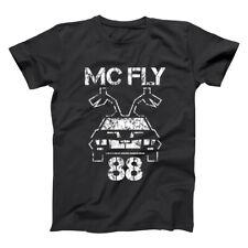 Mc Fly 88 Funny  Back To The Future  Time Travel Black Basic Men's T-Shirt