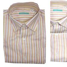 Camicia Uomo Elegante Cotone Manica Lunga Classica Fasce Cerimonia Casual M L