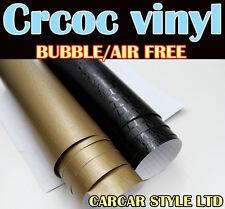 【Croco Skin BLACK 0.3m(11.8in)x0.75m(29.5in)】Wrap Vinyl Film Vehicle Sticker