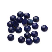 10PCS Natural Lapis lazuli Stone Flatback Round Dome Cabochons Beads 8/10/12mm