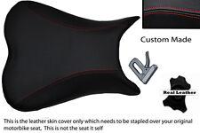 red stitch CUSTOM 06-08 K6 K7 K8 600/750 FITS SUZUKI GSXR LEATHER SEAT COVER