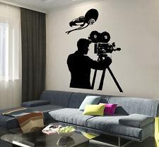 Wall Vinyl Decal Hollywood Cameraman Actor Actress Amazin Film Decor z3767