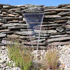 Wasserfall aus Edelstahl Element 30cm 60cm Einsatz LED Beleuchtung Licht EWE