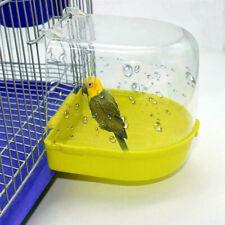 Water Tub For Pet Cage Hanging Bowl Parrots Parakeet Birdbath Bird Cleaning t