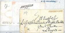 LOMBARDO VENETO - PREFILATELICA: da PORDENONE a AMPEZZO - data MONOSCRITTA! 1837