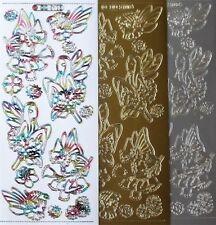 Fairies PEEL OFF STICKERS Ladybird Flowers Sitting Fairy Child Cardmaking