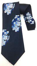 True Vintage Kipper Necktie 70's Wide Neck Tie Black Green Blue Modern Geometric