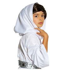 Disney Store Princess Leia Costume with Wig Girls Size 4 7/8 9/10 Star Wars