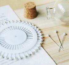 100pcs DIY Pearl Pins Dress Making Crafts Corsage Florist Heads 1.5 Inch Bouquet