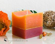 Würfel Kerze Rustic 8,4cm Eckige Kerzen Dinnerkerzen Tischkerzen Advent Deko