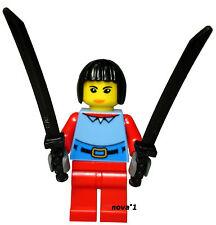 LEGO FEMALE NINJA WARRIOR MINIFIGURE NEW