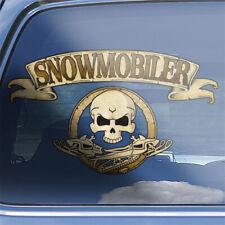 Snowmobile crossbones decal  snowmobiler snowmobiling racing skull badge sticker