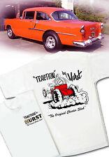 Traction By Hurst Cheater Slicks T-shirt - Vintage Drag Gasser Rat Hot Rod
