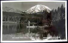 Manzanita Lake CA~1952 MANZANITA LAKE FISHING~ RPPC