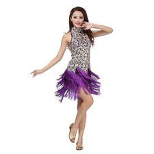 Dance Costume Latin Salsa Tango Cha Cha Ballroom Sequined Tassels Dancing Dress
