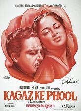 Casa Pared Arte Impreso-MOVIE FILM Bollywood Poster-kagaz Ke Phool-A4, A3, A2, A1