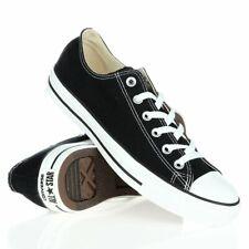 Hombres Mujeres Damas Negro Converse All Star Low Top Chuck Taylor Zapatillas Zapatos