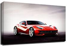 Ferarri Sports Car Red Premium Framed Canvas Art Print