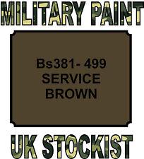 BS381-499 BROWN MILITARY PAINT METAL STEEL HEAT RESISTANT ENGINE  VEHICLE