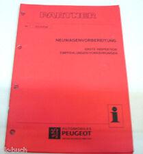 Werkstatthandbuch Peugeot Partner Neuwagenvorbereitung 1. Inspektion ,07-1996