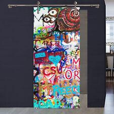 """Glasschiebetür Digitaldruck 1056-2-ST """"Graffiti"""" auf 8 mm ESG konfigurierbar"""