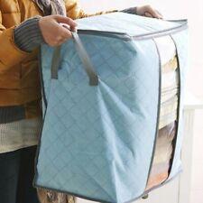 Home Large Clothes Storage Bag Box Quilt Bedding Zip Laundry Pillow Organizer